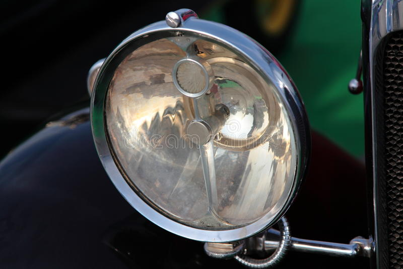 Head Light of Vintage Car stock photography