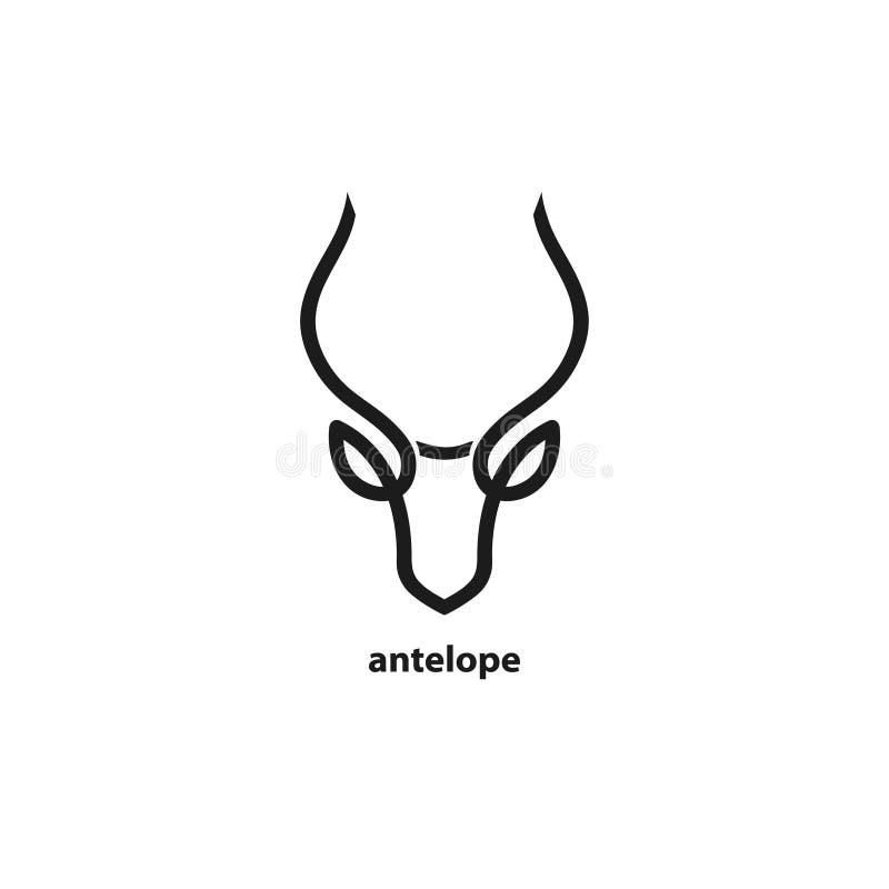 Head linje symbol för antilop Mall för ditt projekt vektor illustrationer
