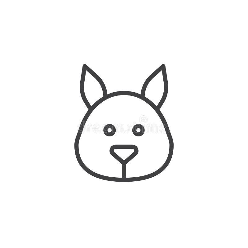Head linje symbol för ekorre royaltyfri illustrationer