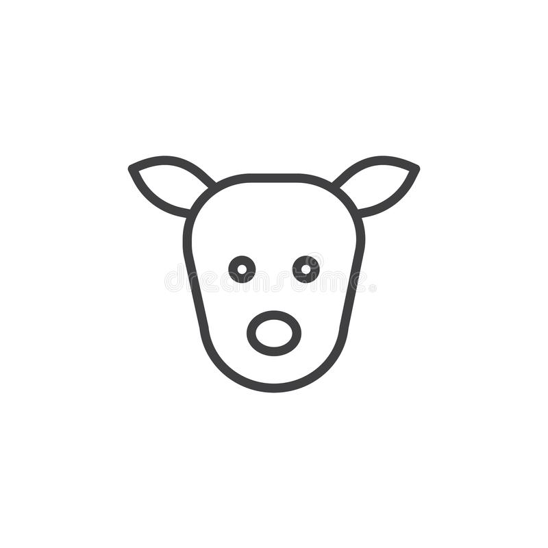 Head linje symbol för hjortar vektor illustrationer