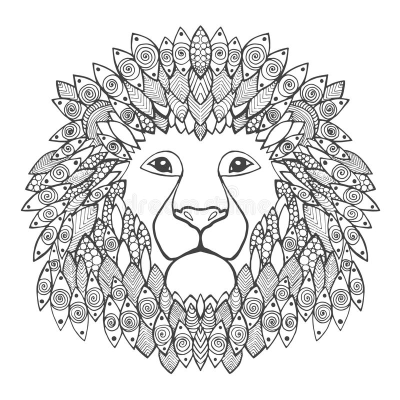 head lion vektor illustrationer