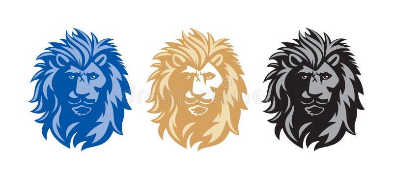 head lion stock illustrationer