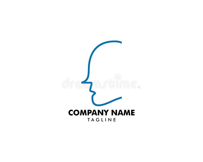 Head Logo abstract design vector template stock illustration