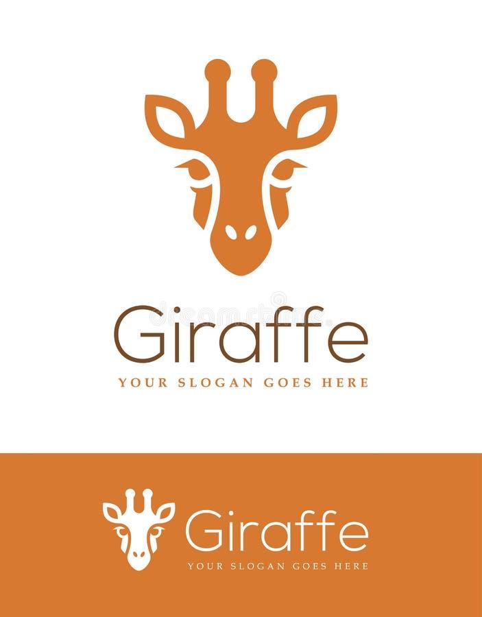 Head logo för giraff royaltyfri illustrationer