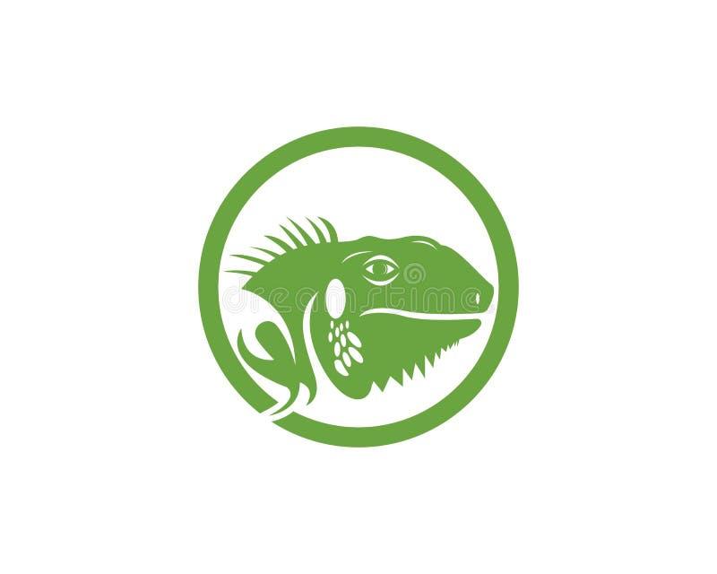 Head logomall för leguan royaltyfri illustrationer