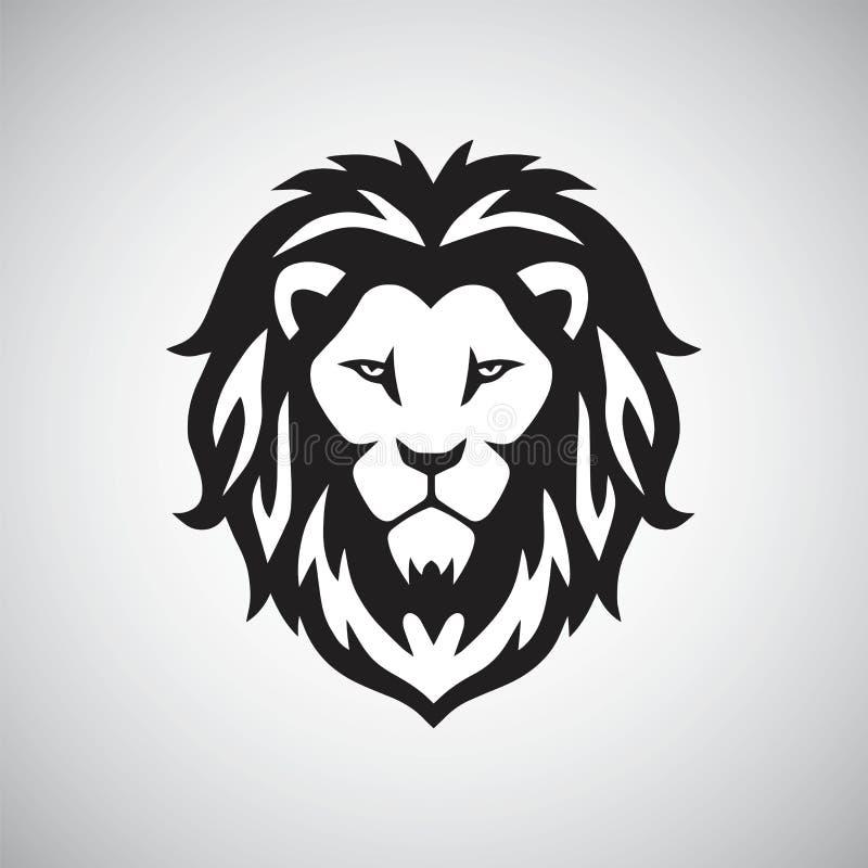 Head logovektor för lejon stock illustrationer