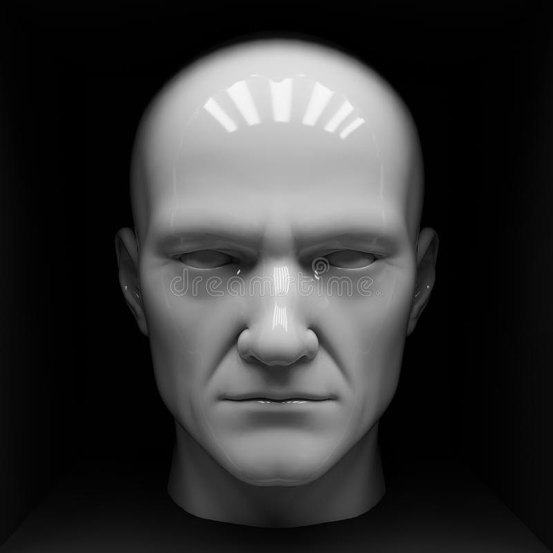 head male skyltdocka stock illustrationer