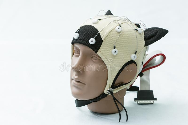 The head of the manikin in medical equipment.  stock images