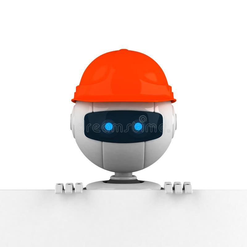 head manrobot för hatt stock illustrationer