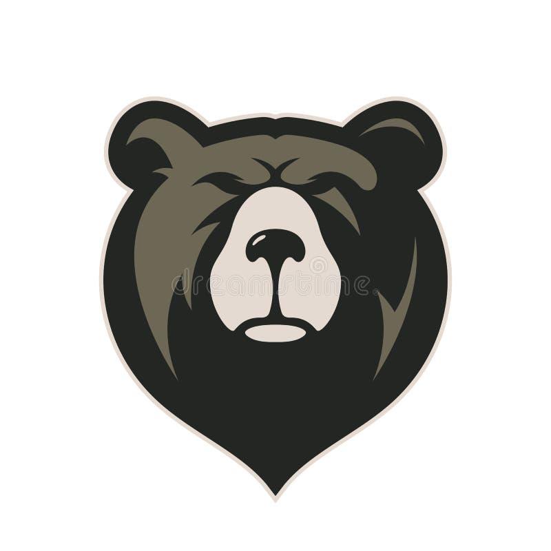 Head maskot för björn royaltyfri illustrationer