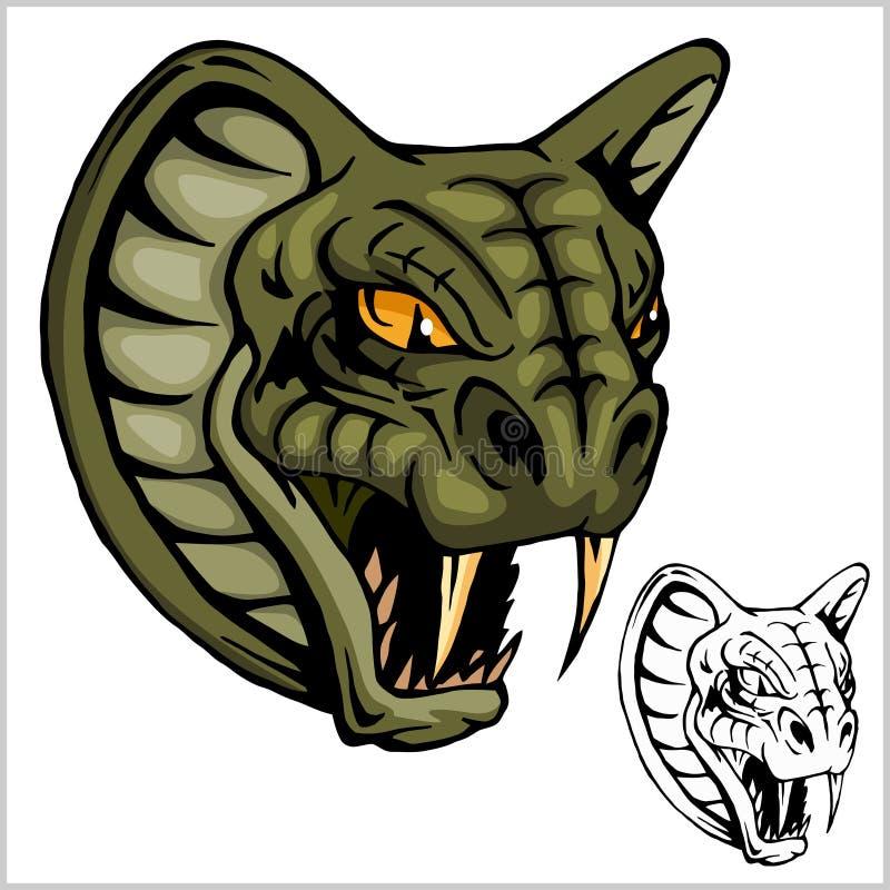 Head maskot för kobra - vektorillustration vektor illustrationer