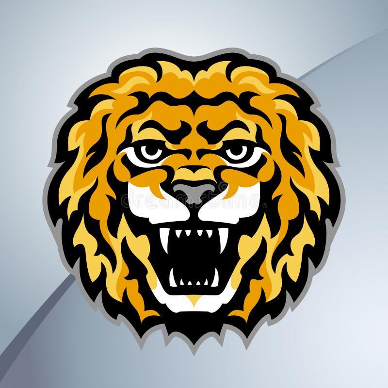 Head maskot för lejon vektor illustrationer
