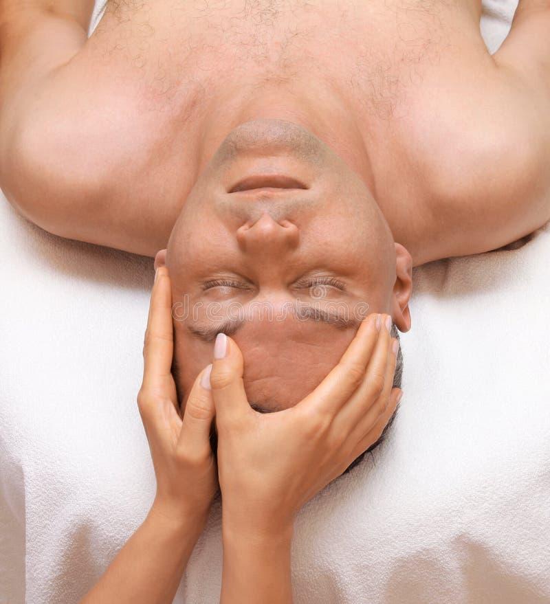 Head massage stock images