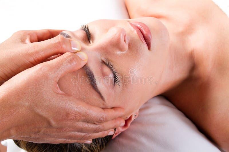 Head massage royalty free stock photo