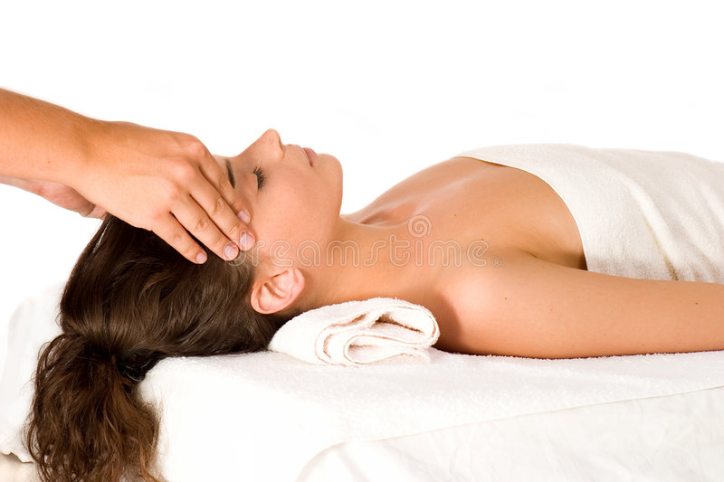 Download Head Massage stock image. Image of lying, lifestyles, attractive - 3514053