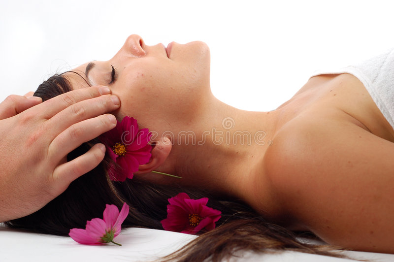Head massage #7 royalty free stock images