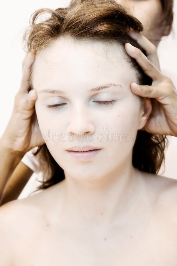 Head massage royalty free stock photography