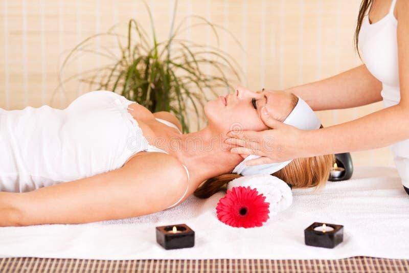 Head massage royalty free stock image