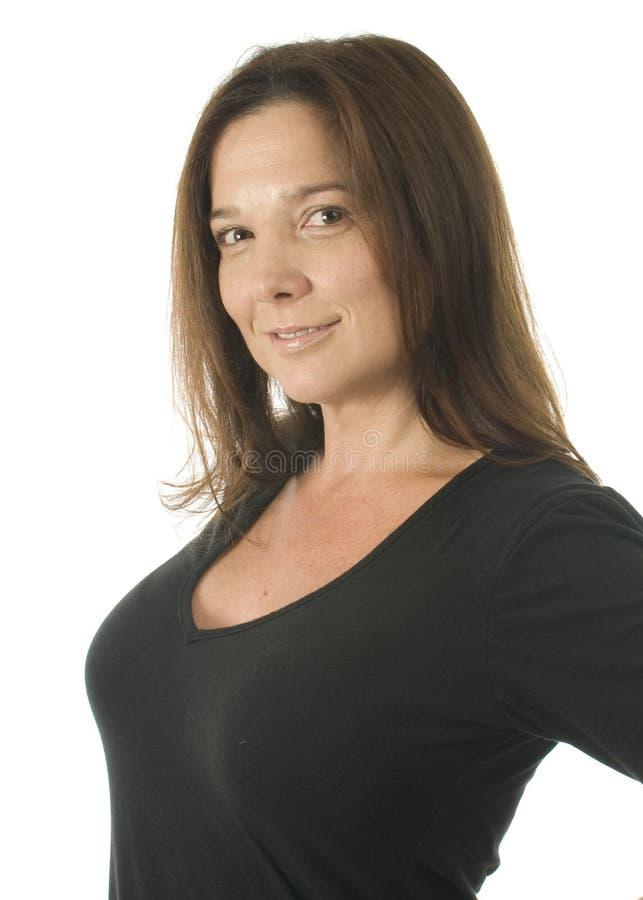 head medelskjuten kvinna för ålder arkivfoton