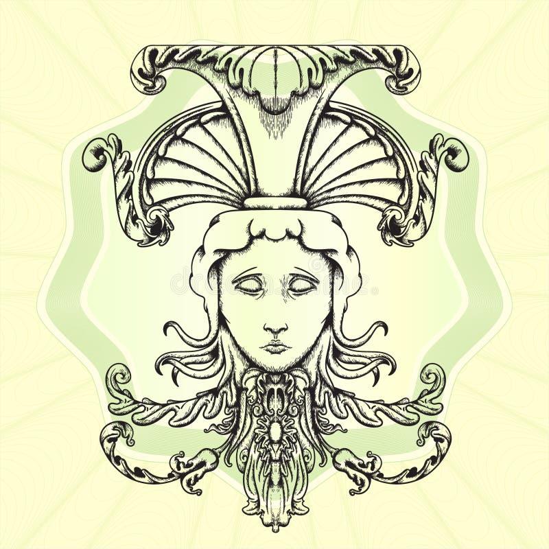 The head of Medusa. royalty free illustration