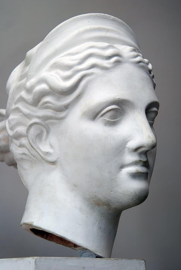 head model murbruk arkivbilder