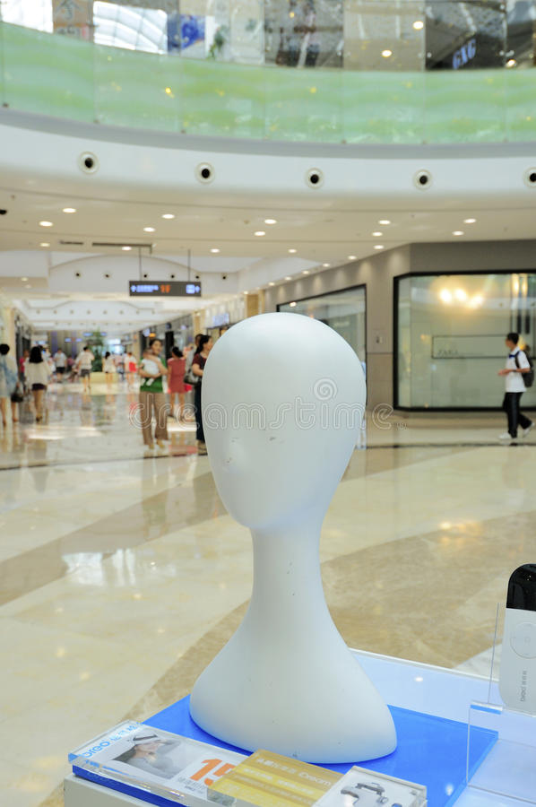 head model styrofoam arkivbilder