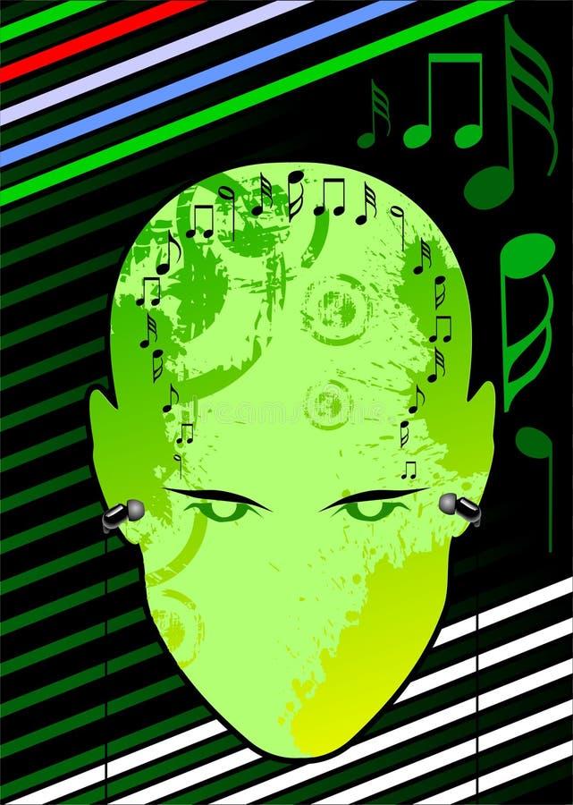 head musik vektor illustrationer