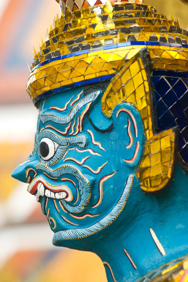 Download Head Of Mythical Figure At Wat Phra Kaeo Stock Image - Image: 12361269