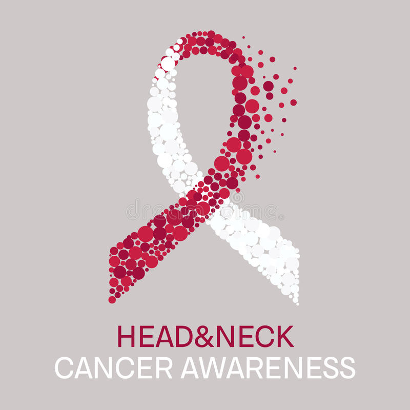 Head and neck cancer poster vector illustration