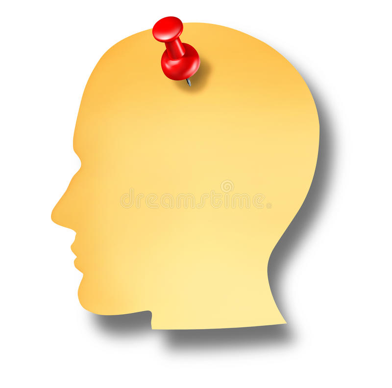 Head Notes vector illustration