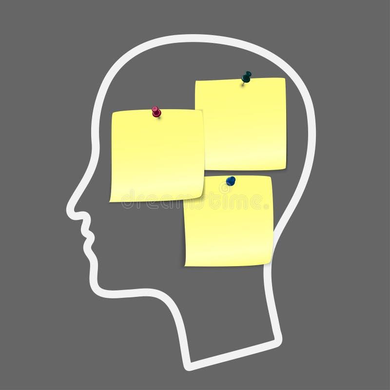 Head notes stock illustration