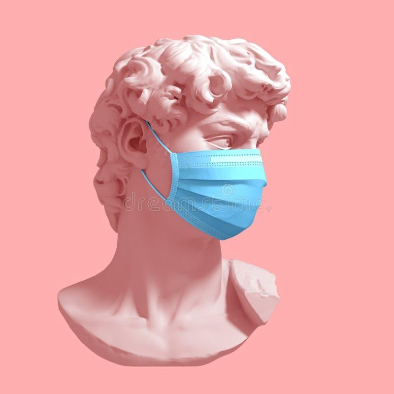 Free Head Of David In Medical Mask. Concept Of Coronavirus Quarantine Stock Image - 171609041