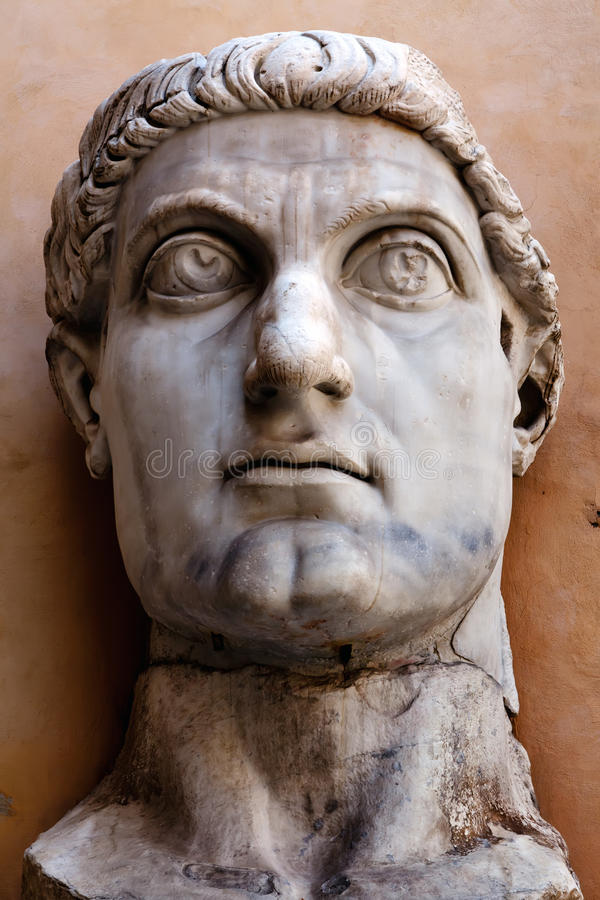 Free Head Of The Colossus Of Constantine Royalty Free Stock Photo - 26549355