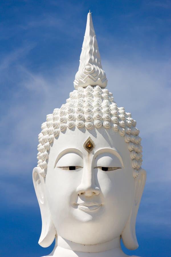 Free Head Of White Buddha Against Blue Sky. Royalty Free Stock Photos - 72147888