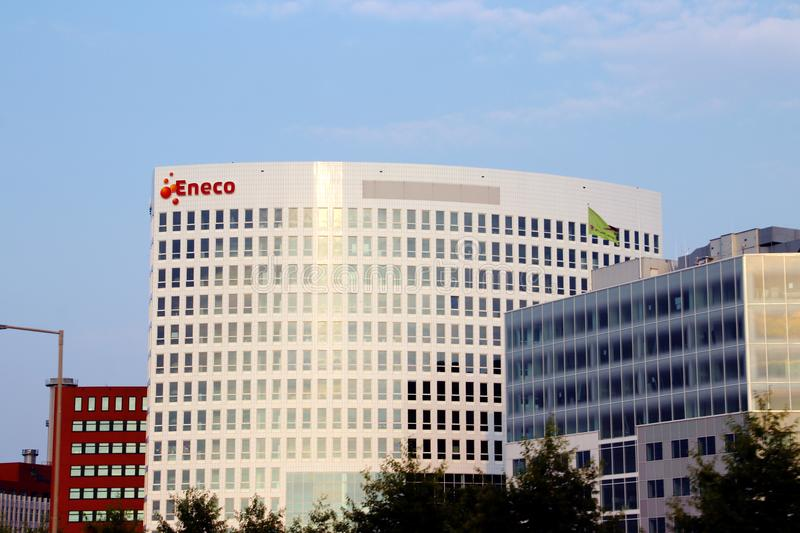 Head office of Eneco, a government holding for electricity which is part of discussion to be sold by municipalities stock photography