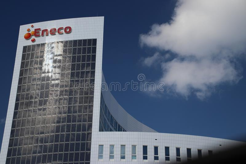 Head office of energy supplier Eneco, still owned by municipalities but shares to be sold in the future royalty free stock photos