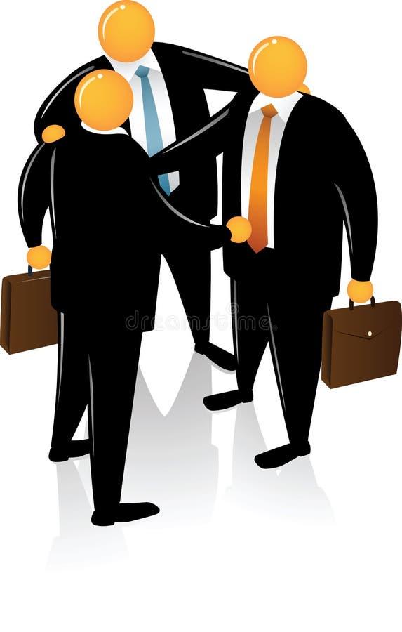 head orange som talar tre stock illustrationer