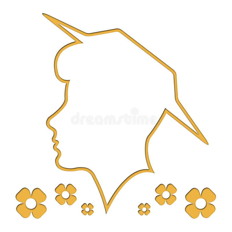 Download Head Outline, Silhouette, Woman, White Background Stock Illustration - Image: 6752747