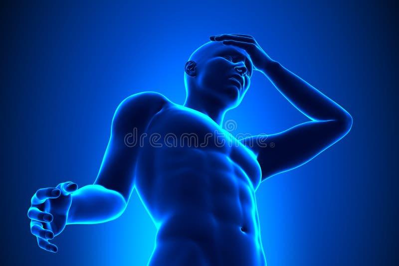 Head pain stock illustration