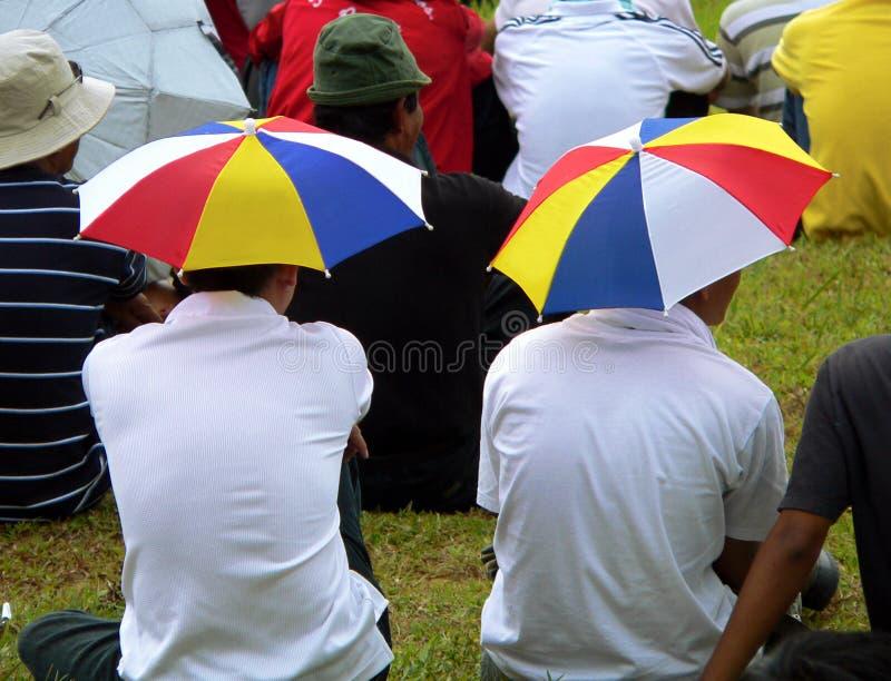 head paraplyer royaltyfria bilder