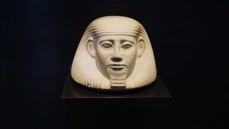 Head of pharaoh, Egyptian Museum stock photos