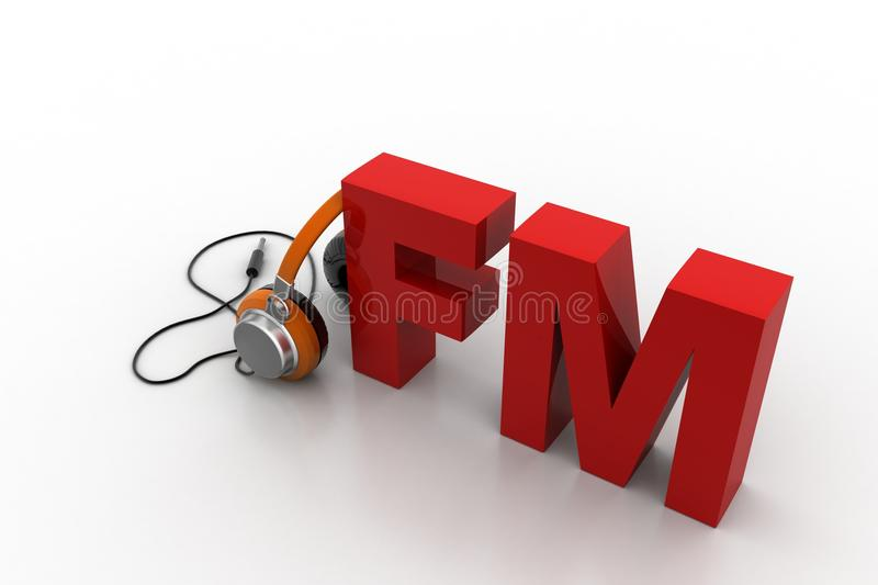 Head phone with FM royalty free illustration