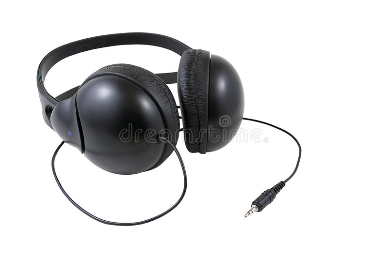 Head phones 1 with path stock photography