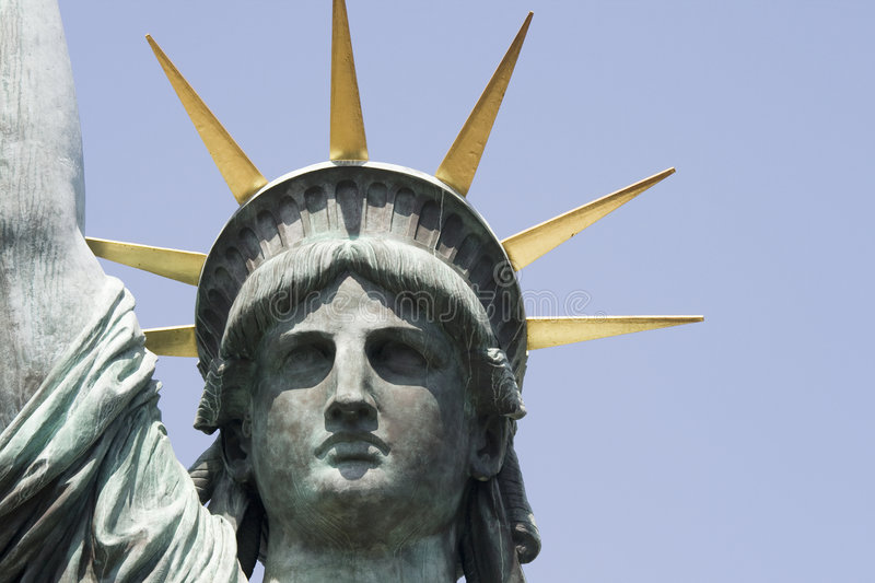 Head replica statue of liberty in Tokyo royalty free stock photo