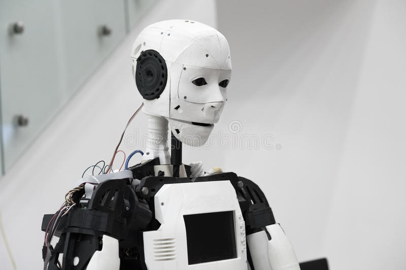 The head of robot stock images