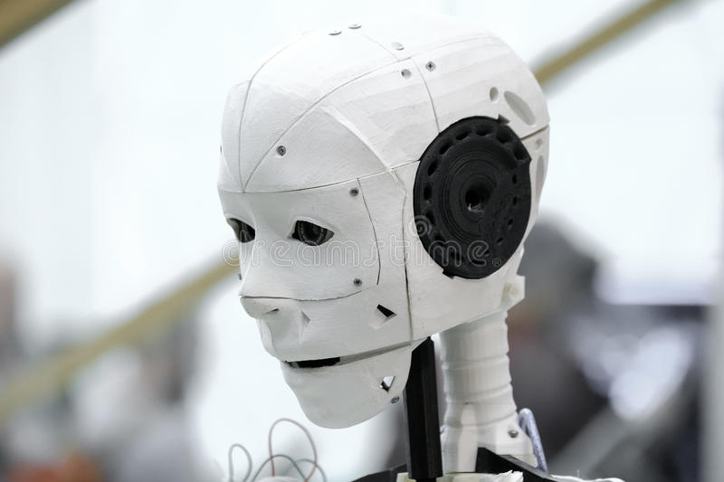 The head of robot stock photos