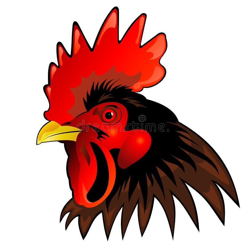 head rooster royaltyfri illustrationer