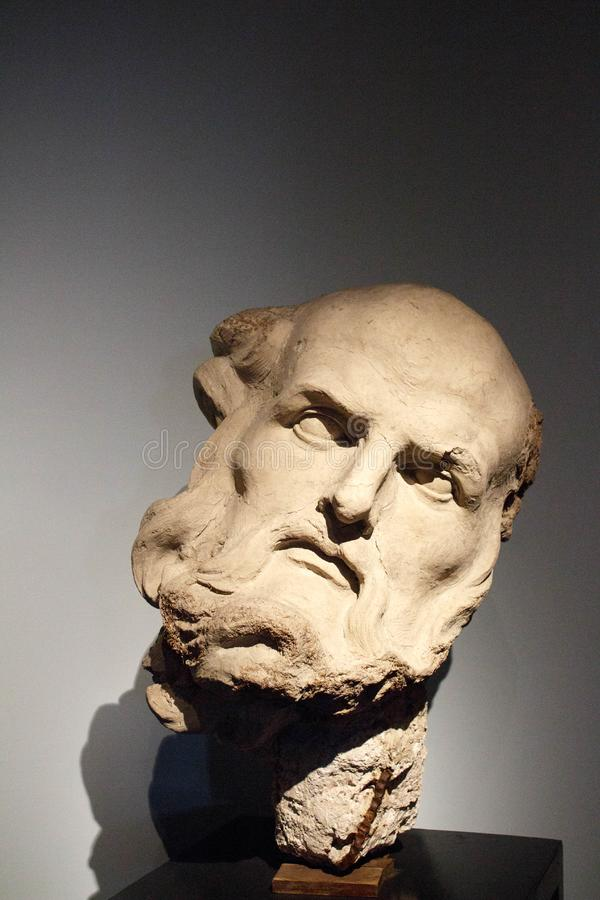Head Sculpture in Plaster, Rome royalty free stock images