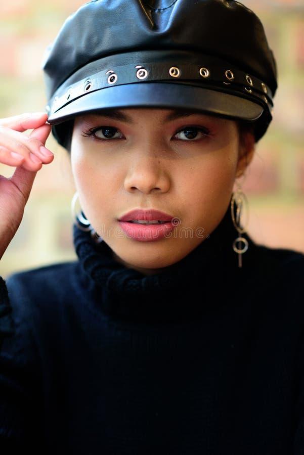 Head shoot of a beautiful woman royalty free stock image