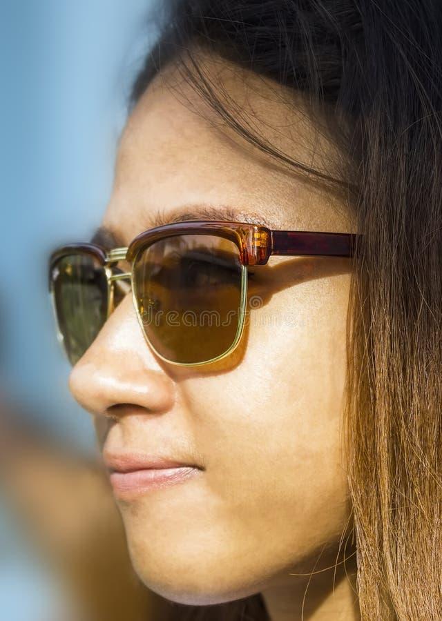 Head shot of Asian woman royalty free stock image